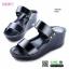 รองเท้าสไตล์ลำลองแบบสวมคาดหน้าสองตอน GS6149-BLK [สีดำ] thumbnail 1