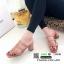 รองเท้าส้นสูงวัสดุหนังนิ่ม ดีไซน์งานเส้น ส้นเหลี่ยม 998-02-ตาล [สีตาล] thumbnail 3