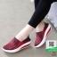 รองเท้าผ้าใบยางยืด 7014-แดง [สีแดง] thumbnail 2