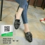 รองเท้าส้นเตี้ยสีดำ สไตล์กุชชี่ (สีดำ ) thumbnail 3