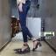 รองเท้าส้นสูงนำเข้าสไตล์เกาหลี 0653-ดำ [สีดำ] thumbnail 4