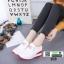 รองเท้าผ้าใบสไตล์เกาหลี แต่งครัสตัล 0519-RED [สีแดง] thumbnail 4