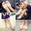 รองเท้าแตะ HERMES logo sandal H750-WHI [สีขาว] thumbnail 2