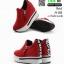 รองเท้าผ้าใบสไตล์เกาหลี ซิปข้าง เสริมส้นด้านในให้ รวม 4นิ้ว A-08-แดง [สีแดง] thumbnail 3