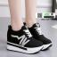รองเท้าผ้าใบแพลตฟอร์มนำเข้า HWA-536-BLK [สีดำ] thumbnail 2