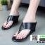 รองเท้าลำลองส้นเตารีด แบบคีบ 915-107-BLK [สีดำ]