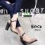 รองเท้าส้นแท่งหุ้มข้อเปิดส้น 1812-5-BLK [สีดำ] thumbnail 2
