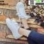 งานนำเข้า รองเท้าผ้าใบสไตล์เกาหลี ST888-WHI [สีขาว] thumbnail 4