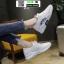 รองเท้าผ้าใบแฟชั่น สไตล์เกาหลี ผ้าตาข่ายนิ่ม C-1-WHI [สีขาว] thumbnail 3