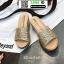รองเท้าส้นเตารีด หน้าสวม กากเพชร 1902-GLD [สีทอง] thumbnail 5