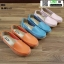 รองเท้าผ้าใบแบบสวม วัสดุหนังวัว แท้100% N926-ORG [สีส้ม] thumbnail 5