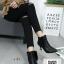 รองเท้าบูทส้นเข็มสีทอง Ankle boot ผ้าพีวีซีเมทัลลิค (สีทอง ) thumbnail 3