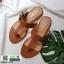 รองเท้าแตะหูหนีบ เท็กซ์เจอร์ลายเสือ G-1408-BWN [สีน้ำตาล] thumbnail 3