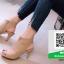 รองเท้าส้นสูงรัดข้อสีครีม สไตล์ปราด้า (สีครีม ) thumbnail 2