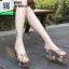 รองเท้าแบบสวมส้นเตารีด ST5117-GLD [สีGLD] thumbnail 4