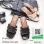 รองเท้าแตะแฟชั่นสีดำ Style Ysl หนังเงานิ่ม (สีดำ ) thumbnail 4