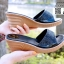 รองเท้าส้นสูง เปิดส้น ส้นตัน SM9031-BLK [สีดำ] thumbnail 1
