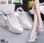รองเท้ารัดส้นเปิดท้ายส้นแท่ง ST005-WHI [สีขาว] thumbnail 4
