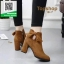 รองเท้าบูทส้นสูงสีแทน สไตล์เกาหลี หนังนิ่ม (สีแทน ) thumbnail 2