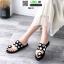 รองเท้าแตะแฟชั่น ฉลุลาย อะไหล่กลม N811-BLK [สีดำ] thumbnail 3