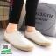 รองเท้าผ้าใบหนัง แต่งขอบเชือกปอ 601003-WHITE [สีขาว] thumbnail 1