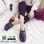 คัชชู หนัง PU หัวใจ G-1263-BLK [สีดำ]