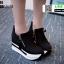 รองเท้าผ้าใบเสริมส้น ST014-BLK [สีดำ] thumbnail 1