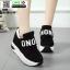 รองเท้าผ้าใบเสริมส้น งานนำเข้า100% ST09-BLK [สีดำ] thumbnail 2