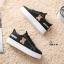 รองเท้าผ้าใบหนัง PU ดีไซน์น่ารักๆ-Black A-26 [สีดำ] thumbnail 4