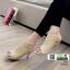 รองเท้าส้นสูงลุกส์ปราด้าที่รัดข้อ 10153-แทน [สีแทน]