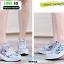 รองเท้าผ้าใบ แบบเสริมพื้นลายดอก W803-BLU [สีน้ำเงิน] thumbnail 3