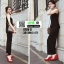 รองเท้าแบบสวมส้นเตารีด ST2012-RED [สีRED] thumbnail 3