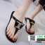 รองเท้าแตะส้นแบน jelly sandals TIT04-BLK [สีดำ] thumbnail 3