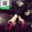 รองเท้าคัทชูเปิดส้นสีแดง สไตล์กุชชี่ (สีแดง ) thumbnail 3