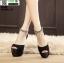 รองเท้าส้นสูงหุ้มหลังรัดข้อ ST288-BLK [สีดำ] thumbnail 2