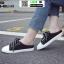 รองเท้าผ้าใบสวมเปิดท้าย ST55-BLK [สีดำ] thumbnail 3
