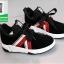 รองเท้าผ้าใบแฟชั่นหุ้มข้อสีดำ สไตล์เกาหลี (สีดำ ) thumbnail 2