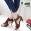 รองเท้าส้นสูง ซิปหลัง 350-209-ครีม [สีครีม] thumbnail 2