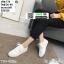 รองเท้าผ้าใบลายฉลุ แบบเชือก T70-WHI [สีขาว] thumbnail 1