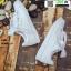 งานนำเข้า รองเท้าผ้าใบสไตล์เกาหลี ST888-WHI [สีขาว] thumbnail 5