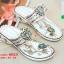 รองเท้าแตะแฟชั่นสีขาว Flowery Sandals (สีขาว ) thumbnail 5