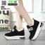 รองเท้าผ้าใบเสริมส้น งานนำเข้า100% ST09-BLK [สีดำ] thumbnail 4
