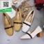 รองเท้าคัทชูส้นตันสีครีม หนังนิ่ม ทรงสวย (สีครีม ) thumbnail 2