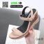 รองเท้าสไตล์รัดส้นงาน สายคาดหน้า 18-1339-PNK [สีชมพู] thumbnail 4
