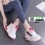 รองเท้าผ้าใบเสริมส้นนำเข้า สไตล์เกาหลี 0025-RED [สีแดง] thumbnail 3