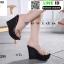รองเท้าแบบสวมส้นเตารีด 17-2299-BLK [สีดำ] thumbnail 2