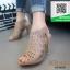 รองเท้าส้นสูง ฉลุลาย G711727-KHA [สีกากึ]