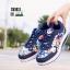 รองเท้าผ้าใบ ทรงสปอร์ต ลายดอกไม้ SM9024-BLU [สีน้ำเงิน] thumbnail 1