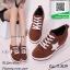 รองเท้าผ้าใบส้นตึกสีน้ำตาล หนังกลับ แฟชั่นเกาหลี (สีน้ำตาล ) thumbnail 1