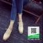 รองเท้าคัทชูเสริมส้นสีครีม ทรงมัฟฟิน ลายไม้ (สีครีม ) thumbnail 3